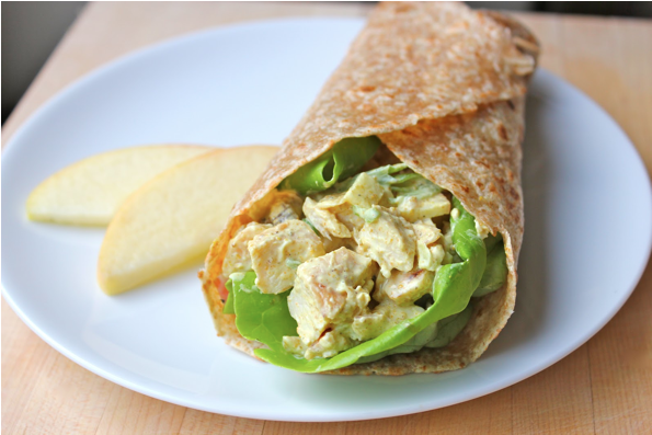 chicken curry wrap curry chicken wraps curry chicken salad wraps ...