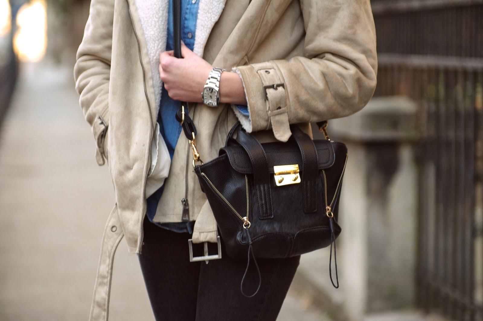 hm nude sheep jacket, phillip lim mini pashli bag lookalike replica annaxi, style blogger, fashion blog blogger