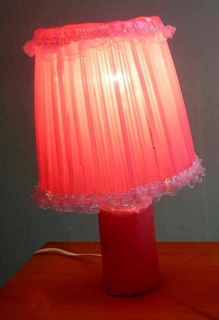 Manualidades creativas manualidades l mpara con sorbetes - Como hacer una lampara de pie artesanal ...