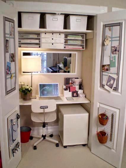 Zona de trabajo en armario