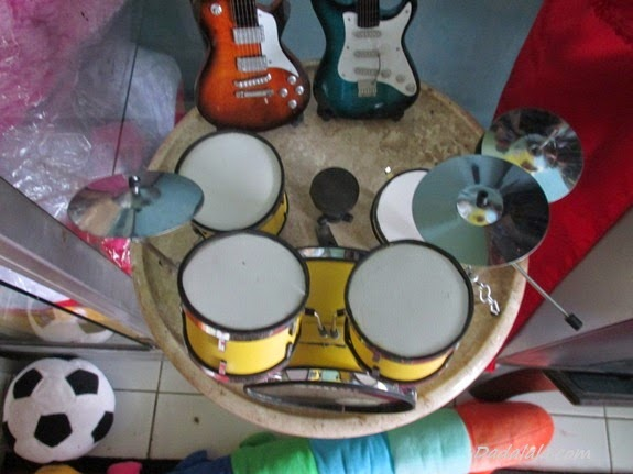 Jual Miniatur Drum Sonor Kuning Polos