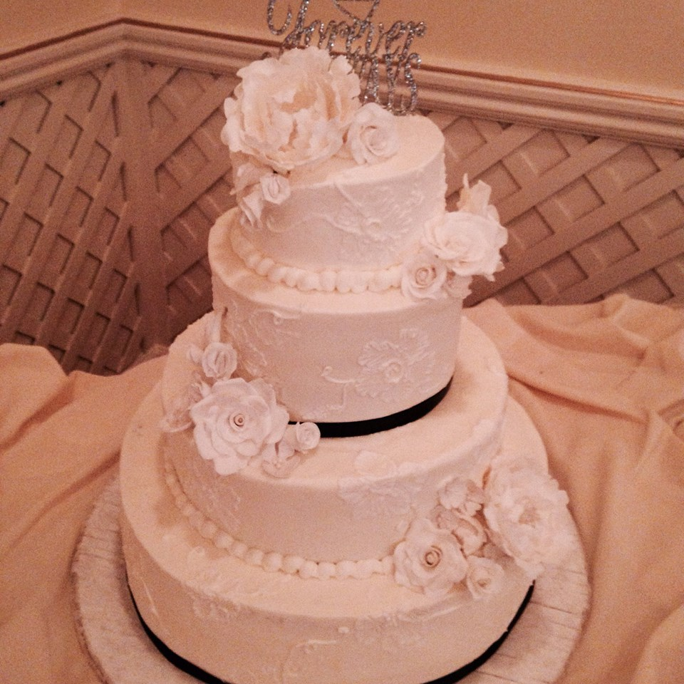 Tiers of Joy Cakes: R&N~Vintage Brush Embroidery Wedding Cake
