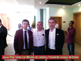 DIRECTOR NOTICIERO37 GRADOS CON MINISTRO DE JUSTICA Y PRESIDENTE CONSEJO DE ESTADO