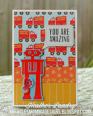 Robot Card_Boy Themed_All Occasion_Red