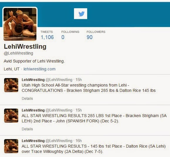 Follow Lehiwrestling on Twitter
