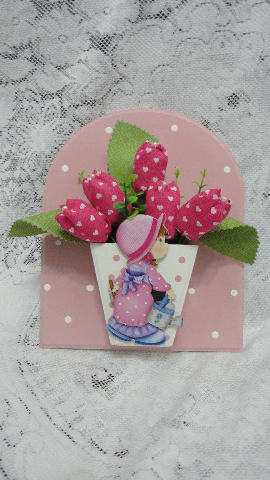 Programa Artesanato Tv Aparecida ~ CLEIDE ARTESANATO Fuxico Vasinho de flor tulipa