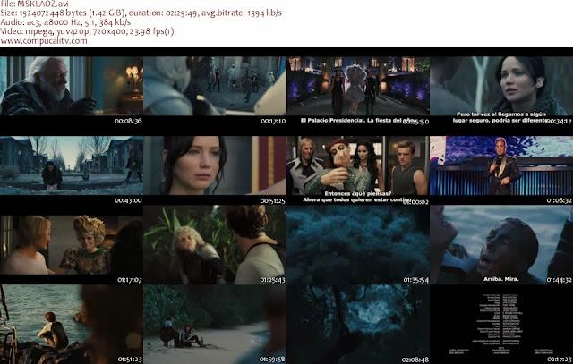 Los Juegos del Hambre en Llamas DVDRip