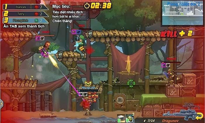 Game hay Rambo Lùn là tựa game casual mới trên kho game Zing Appstore