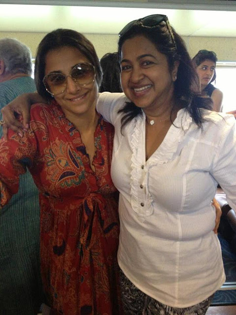 Spotted : Vidya Balan with South actress Radhika Sarathkumar