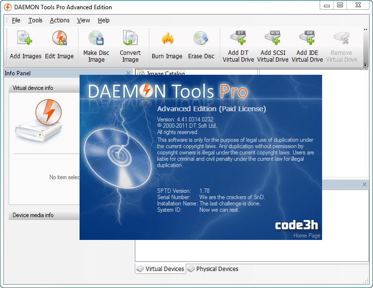 Daemon Tools Pro 6 Crack With Serial Key Free Download