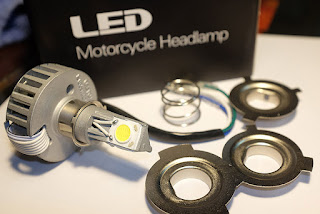 Lampu motor, Halogen atau LED?