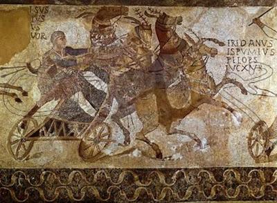 Quadriga - Mosaic (Museu Arqueològic de Barcelona)