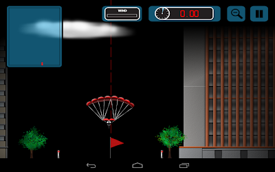 Stickman Base Jumper: Dare to jump at night