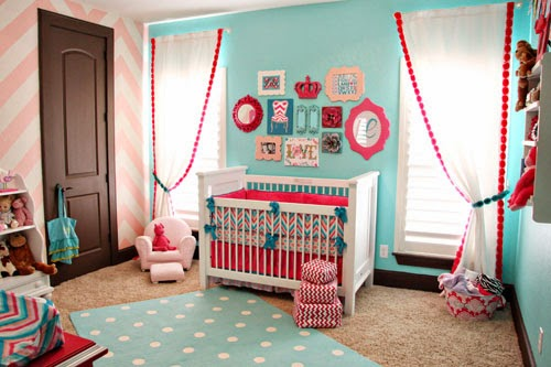 Baby Girl Chevron Nursery