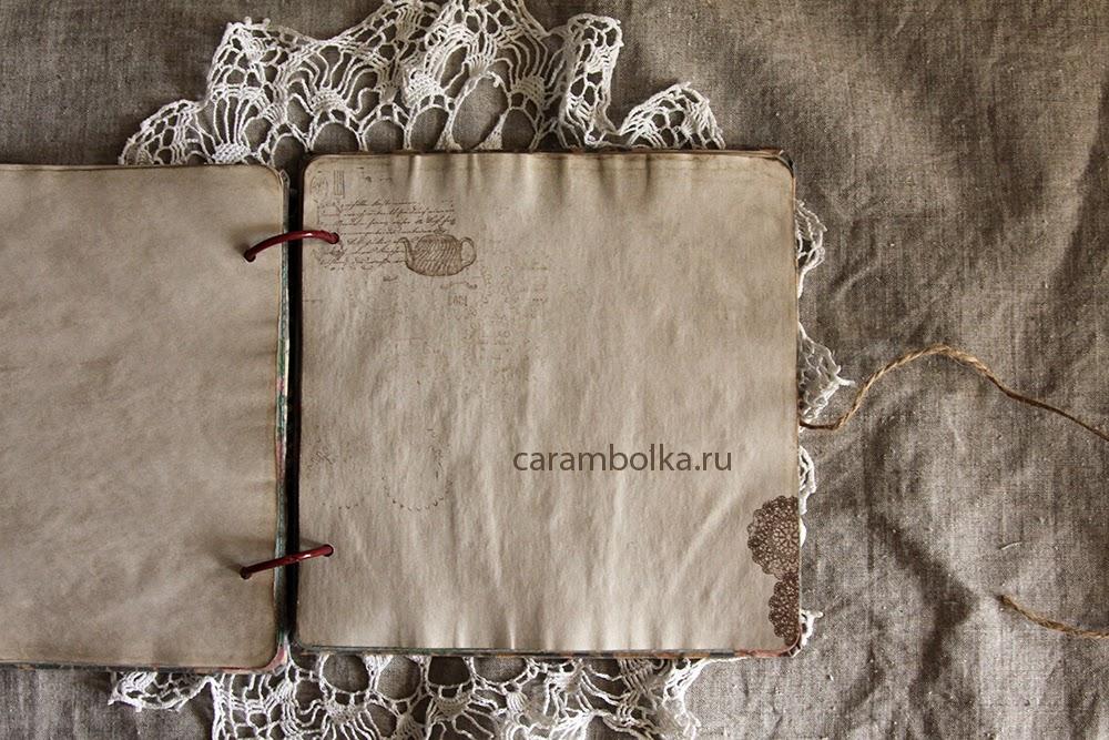 Кулинарная книга своими руками (блокнот для записи рецептов на кольцах). Материалы из магазина Скрапбукшоп www.scrapbookshop.ru.