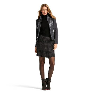 jupe mexx carreaux mode blouson cuir noir bottillons ouchilistic e-shop
