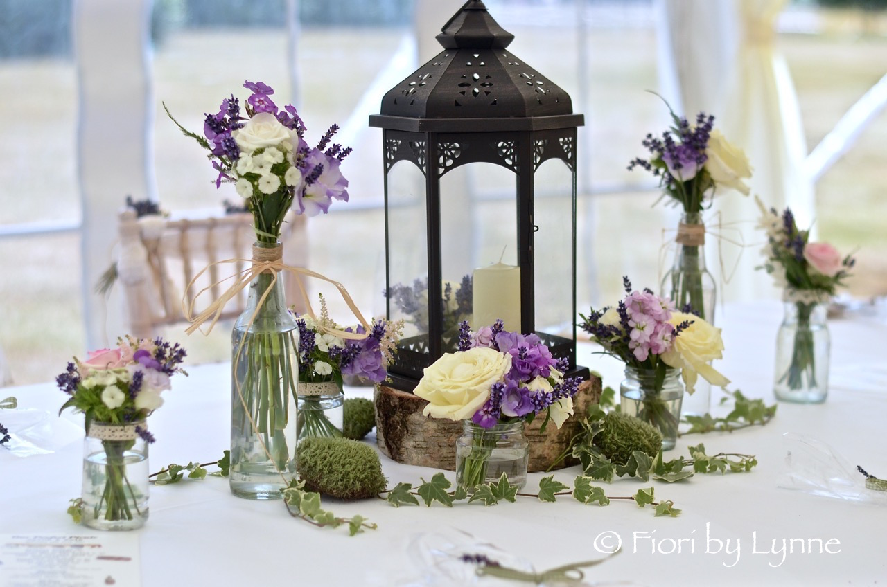 Floral marquee wedding