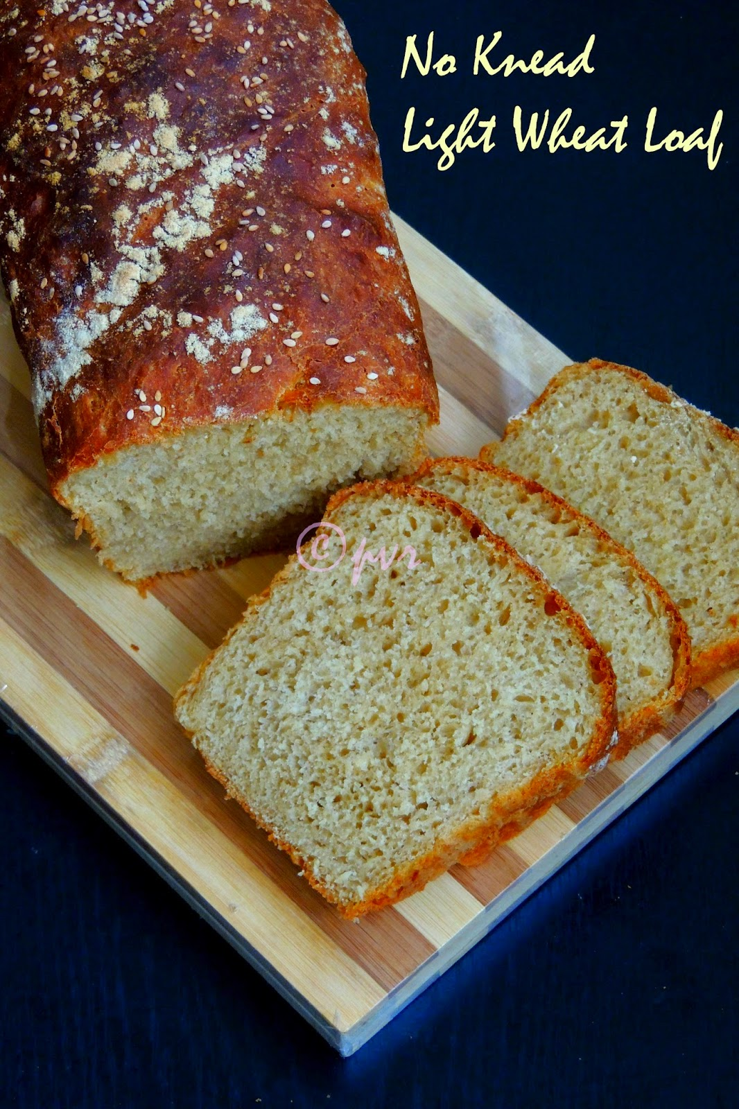 Vegan Wheat Loaf, No Knead Vegan Light wheat loaf