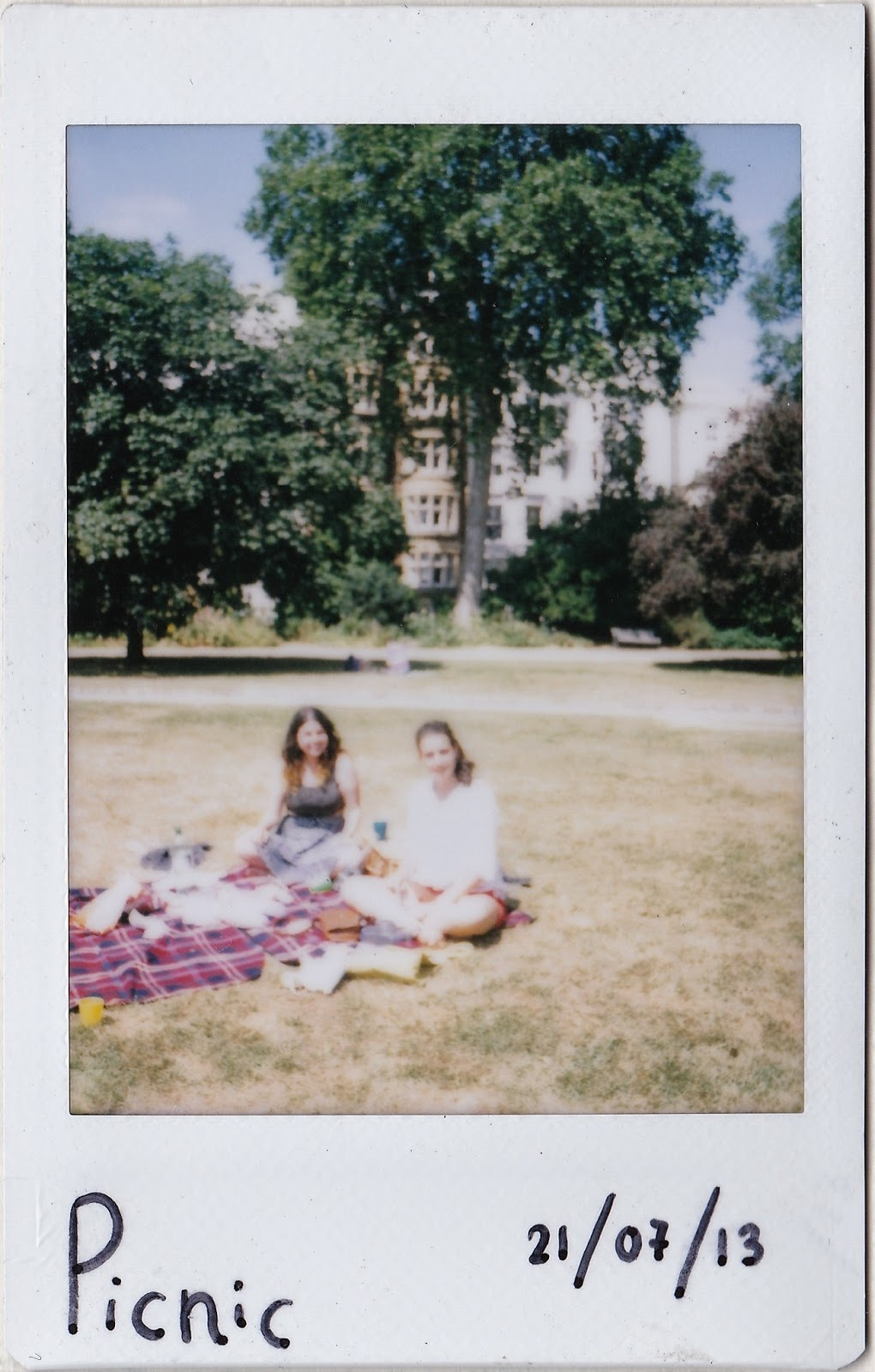 Polaroid of picnic