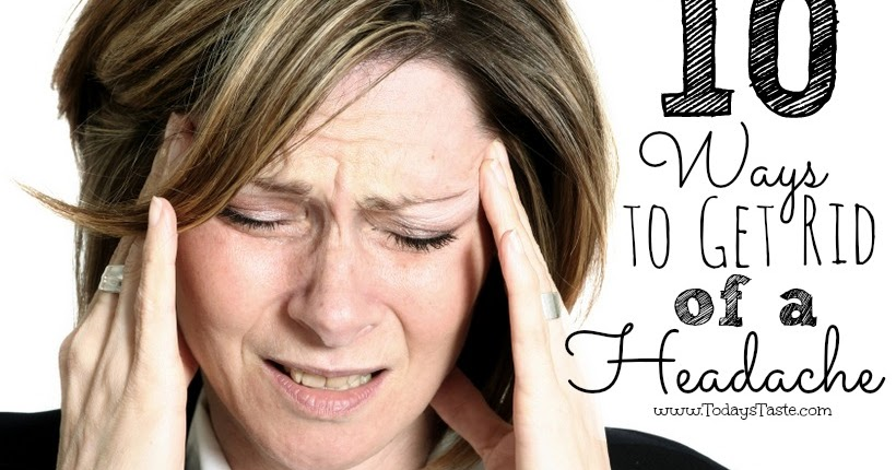 how to get rid of a headache at home