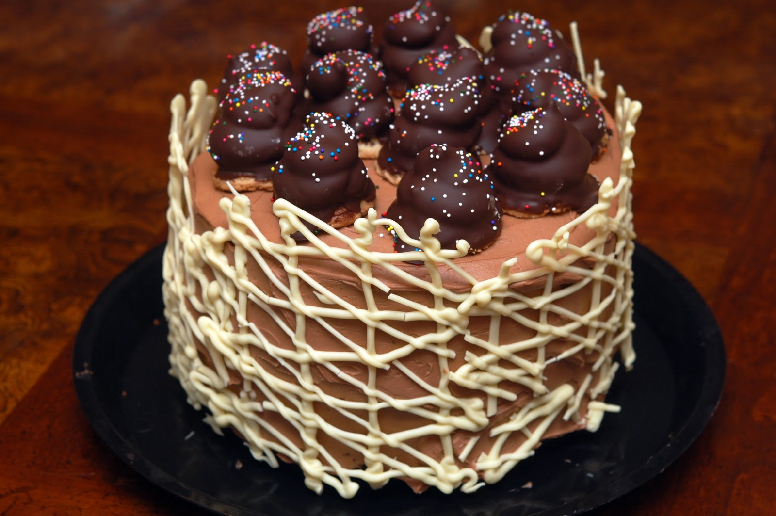 Chocolate Cake With Whipped Fudge Filling And Chocolate Buttercream ...