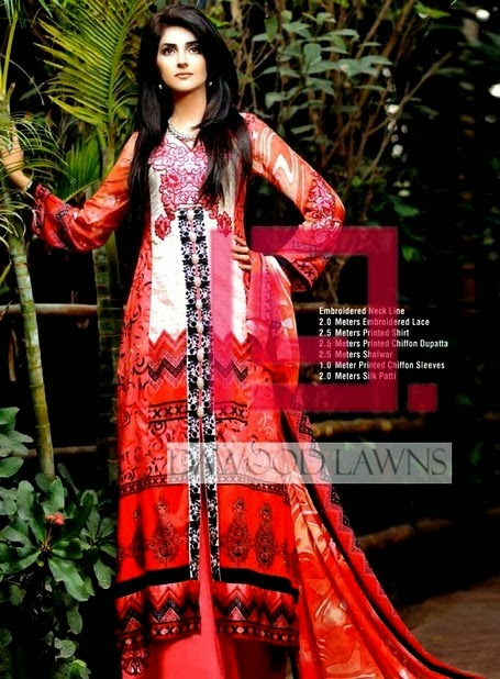 Printed Chiffon Lawn Collection by Dawood