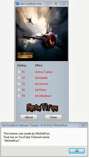 Air Conflicts Vietnam Trainer +4 V1.0.0.1 MrAntiFun