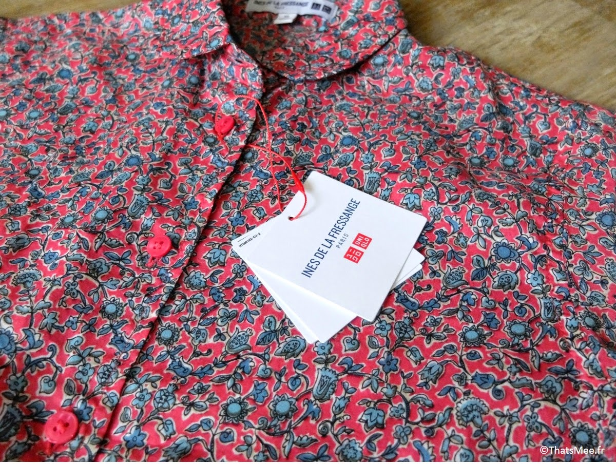 Chemise Ines de la Fressange x Uniqlo  chemise fleurie coton