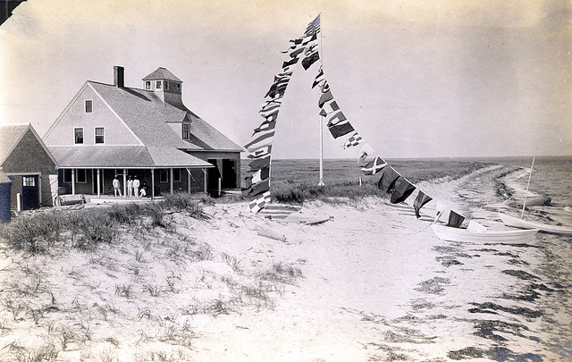 Muskeget Lifesaving Station, 1917. Source: Nantucket Historical Association