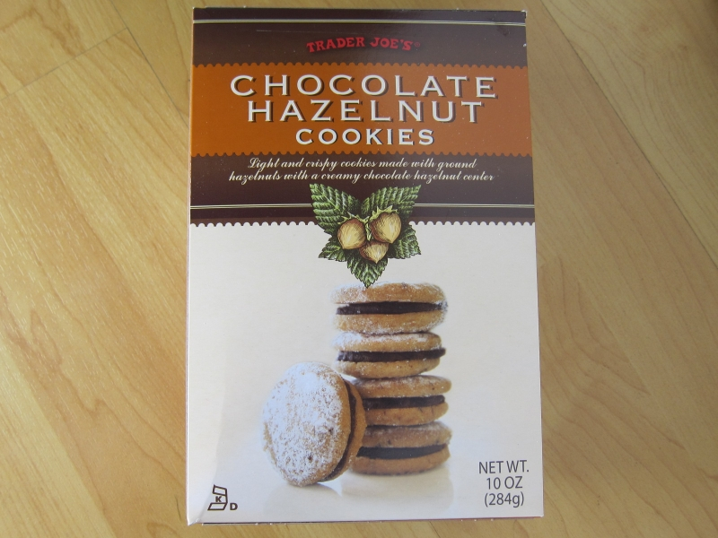 Trader Joe's Chocolate Hazelnut Cookies feature small round cookie ...
