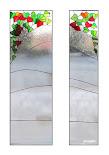vitráž do dveří - listy