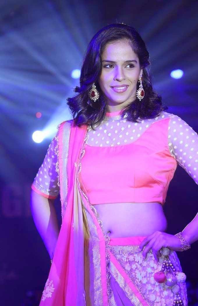 Saina Nehwal In Sheer Neck Blouse