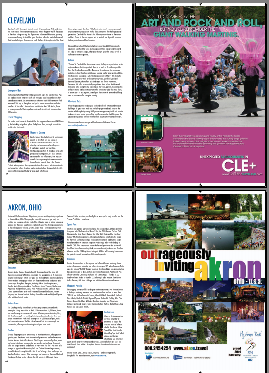 Cleveland and Akron featured in Gay and Lesbian Travel Industry Directory