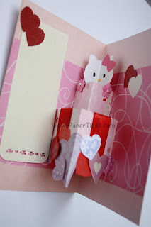 Hello kitty handmade birthday pop up card