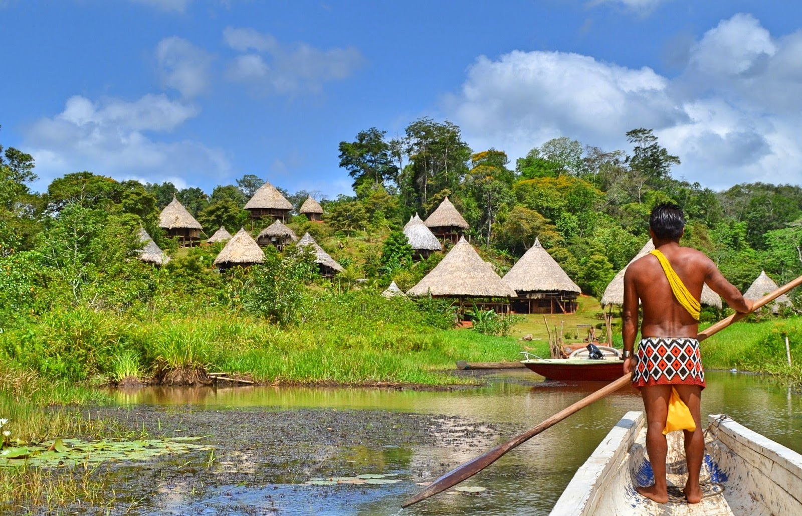 Travel in the nature: Embera Quera village Panama