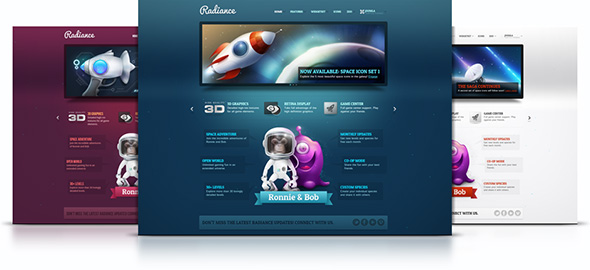 Radiance - Joomla Template Free Download by YOOtheme.