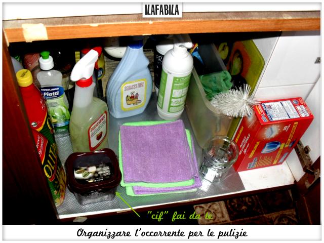 Organizzare l'occorrente per le pulizie - Sottolavello