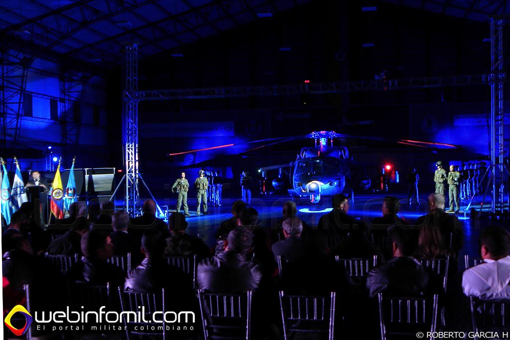 El Comando Aéreo de Combate No 5 de la Fuerza Aérea Colombiana, comandado por el Señor Coronel Hector Carrascal Varela,  se destacó con el despliegue tecnológico y de luces hecho para ambientar la presentación del Arpía IV.