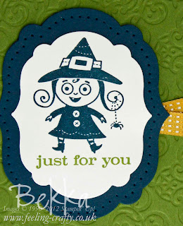 Just for You Halloween Card by Bekka www.feeling-crafty.co.uk  Buy Stampin' Up! here.