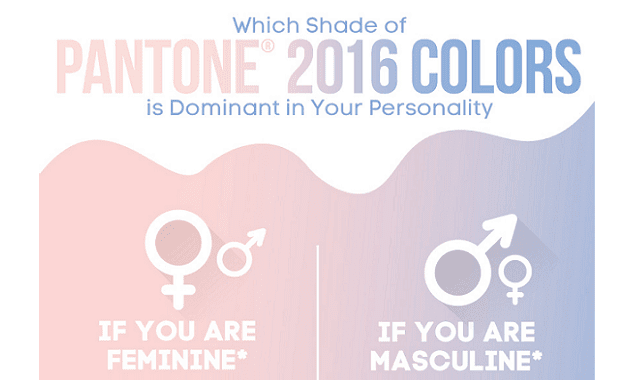 Which Shades of PANTONE 2016 COLORS is Dominant in Your Personality?