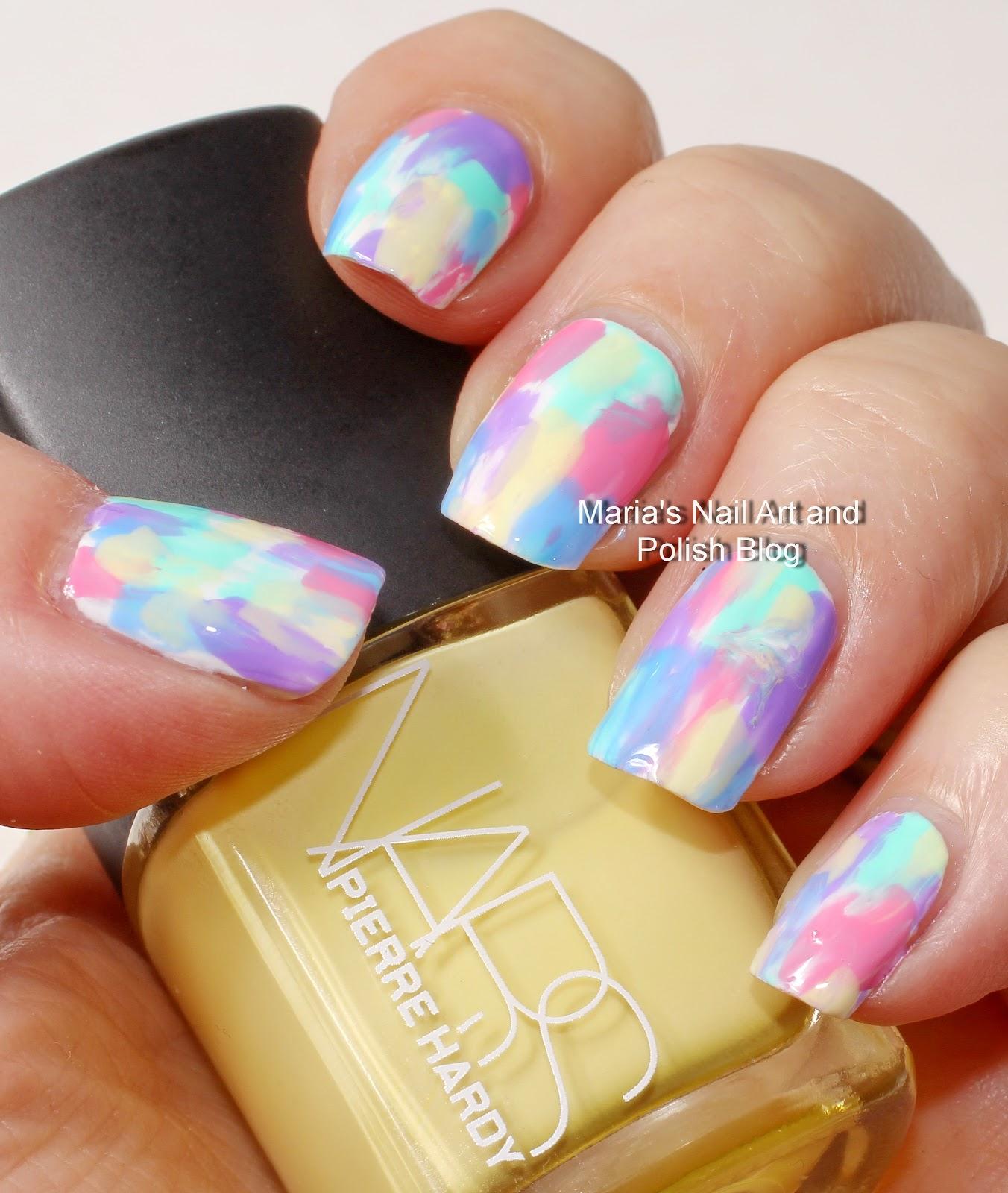 Marias nail art and polish blog pastel brush stroke nail art pastel brush stroke nail art prinsesfo Images
