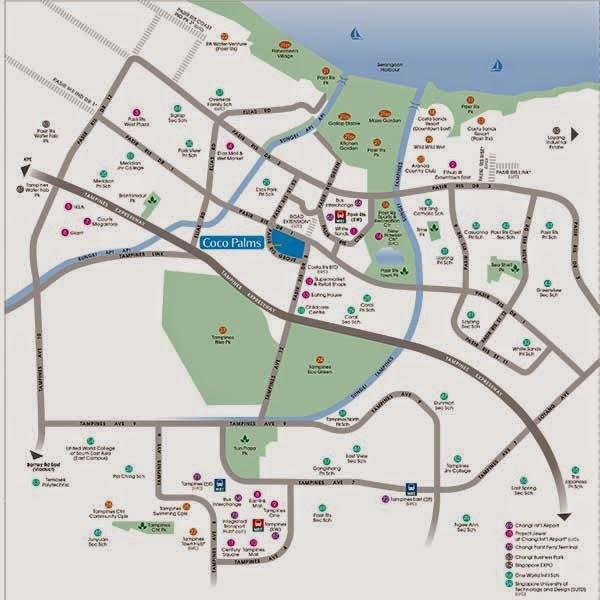 Coco Palms @ Pasir Ris Location Map