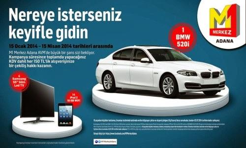 M1-Merkez-Adana-AVM-Çekiliş-Kampanyası-M1-Merkez-Adana-AVM-BMW-520i-Çekilişi