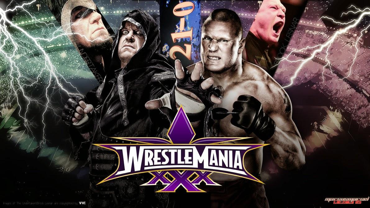 Historia del Wrestling: The Undertaker vs Brock Lesnar ...