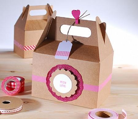 Caja craft decorada con washitape