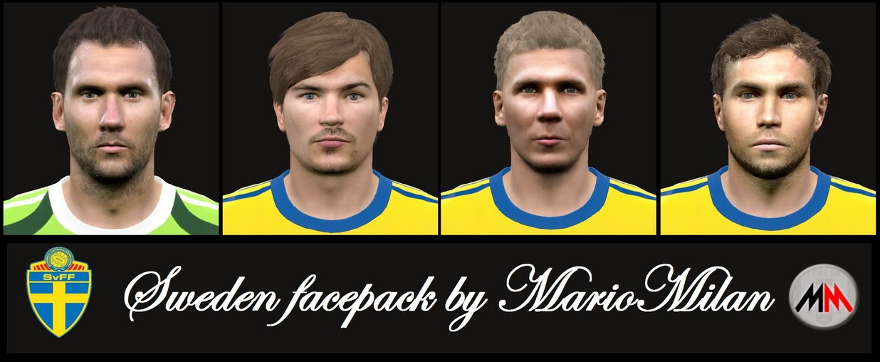 PES 2015 Sweden Facepack by MarioMilan
