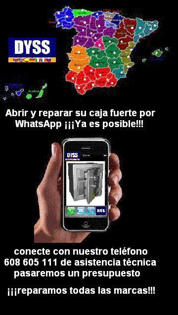 Apertura cajas fuertes por WhatsApp