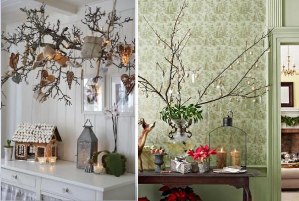 wunderkammer decorar en navidad con una rama