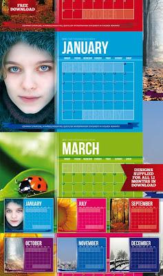Plantilla Indesing para calendario