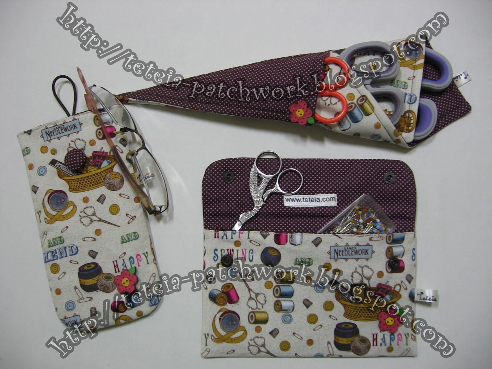 Tetéia Patchwork: Kit para ateliê de costura estampa costura/poá  #654132 1600x1200